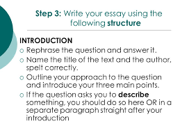 response essay outline year 10 response to text essay writing ppt