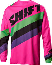 pink motocross bike shift youth white label tarmac jersey 2017 mx motocross off road