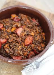 cuisiner les lentilles lentilles beluga à la tomate et saucisses de montbéliard délizioso