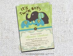 elephant baby shower invitations twins elephant baby shower invitation its twin boys girls
