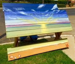 Diy Wood Picnic Table by Diy Custom Painted Picnic Table The Home Depot Community