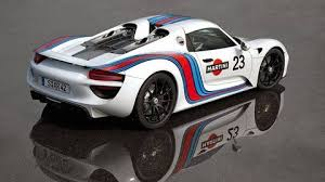 porsche 918 spyder in martini racing colors