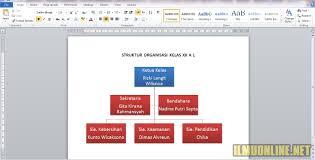 Cara Membuat Struktur Organisasi Yang Menarik | cara membuat struktur organisasi kelas di word yang menarik