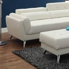Living Room Sectionals With Chaise Esofastore Living Room Sectional Sofa Chaise White Bonded Leather