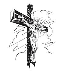 drawn cross jesus face pencil and in color drawn cross jesus face