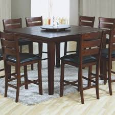 high top dining room table and chairs round bar height gathering