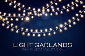 light garland set eps ai jpg objects creative market