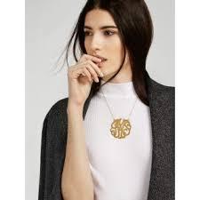 large monogram necklace baublebar monogram necklace review la necklace