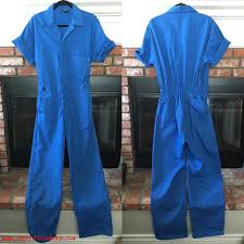 blue jumpsuit mens s clothes vtg blue jumpsuit mechanic style onesie coveralls