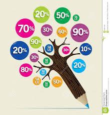 discount concept pencil tree stock vector image 32017767