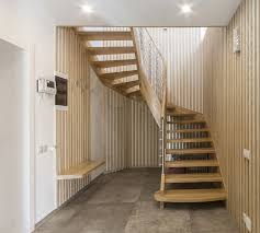 L Shaped Stairs Design Minimalist Space Saving Loft Stair With White Wooden Material Feat