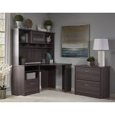 lateral file cabinet with hutch cabot corner desk with hutch and lateral file cabinet in cherry ebay
