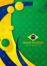 Brazil Flag Image Bright Wavy Background In Brazilian Flag Colors Royalty Free