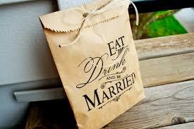 wedding treat bags brown paper favor bags wedding cookie or treat bag be married