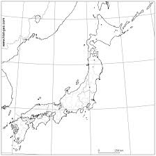 Printable Blank Map Of Europe by Outline Map Of Japan Japanese Regions Prefectures Parallels