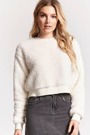 fuzzy faux shearling sweater forever 21 2000159333