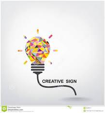 design idea creative light bulb idea concept background stock vector