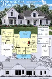 master bedroom upstairs floor plans plan 51773hz 4 bed modern farmhouse with bonus over garage