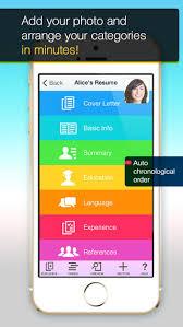Resume Apps Resume Mobile Pro Design Professional Pdf Resume On The