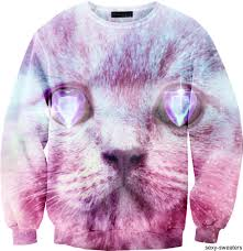trippy cat animal sweaters