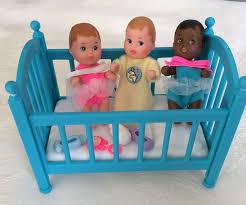 vintage barbie baby lot crib accessories cute babies