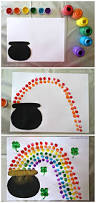 fingerprint rainbow pot of gold craft for st patrick u0027s day st