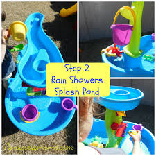 step 2 rain showers water table step 2 rain shower splash pond water table review