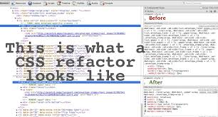 this is what a css refactor looks like pam the webivore