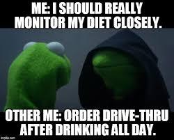 Meme Diet - evil kermit meme imgflip