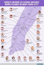 New York Map With Cities this map shows where 25 iconic movies were filmed in new york city