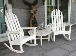 outdoor white double rocking chair wooden wicker rocking chair