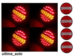 led tail lights for a trailer 2 pairs 24 volt led tail lights hamburger rear lamps truck trailer