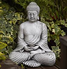 borderstone fan buddha garden ornament gardensite co uk