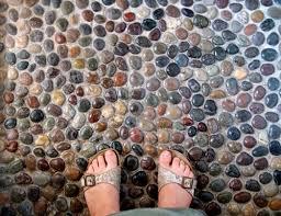 best 25 river rock floor ideas on wood tile shower