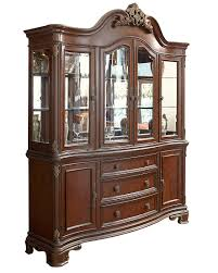 China Cabinet And Dining Room Set Acanthus Large China Cabinet By Avalon Furniture Home Gallery Stores