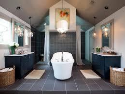 Small Bathroom Chandelier Bathrooms Modern Master Bathroom With Oval Bathtub Under Modern