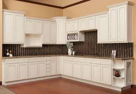 glazed white kitchen cabinets kitchen decoration