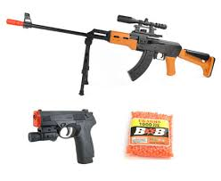 ak 47 laser light combo ak 47 fps 200 assault rifle and px4 pistol airsoft spring guns combo