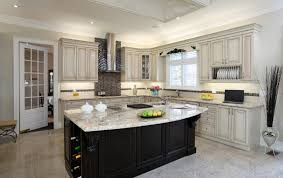 white kitchen black island kitchen with black island and white cabinets also