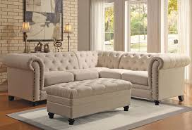 Fabric Sectional Sofas Linen Fabric Sectional Sofa