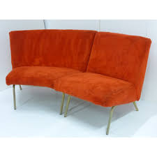 steiner canape steiner corner sofa in fabric and metal joseph andré motte