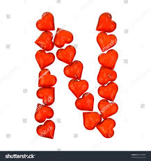 alphabet valentines day letter n isolated stock photo 44183092