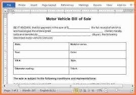 6 car bill of sale template word stationery bills