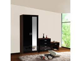 Black High Gloss Bedroom Furniture by Gladini Black High Gloss 3 Piece Bedroom Furniture Set Wardrobe
