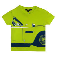 lime green aston martin aston martin baby boys lime green t shirt with big blue car print