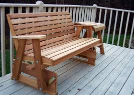 bench luxcraft poly 4ft adirondack style glider amazing porch