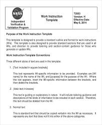 instruction document template templates memberpro co