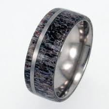 antler wedding ring deer antler wedding band titanium ring s wedding band
