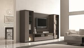 wall units ultra contemporary lacquered wall unit with display shelves and