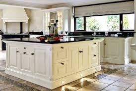kitchen natural white vintage kitchen with black granite worktop